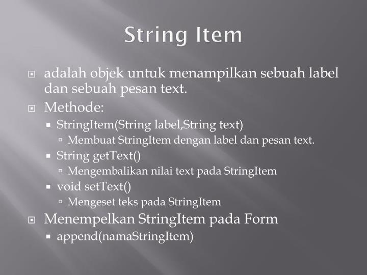 String Item