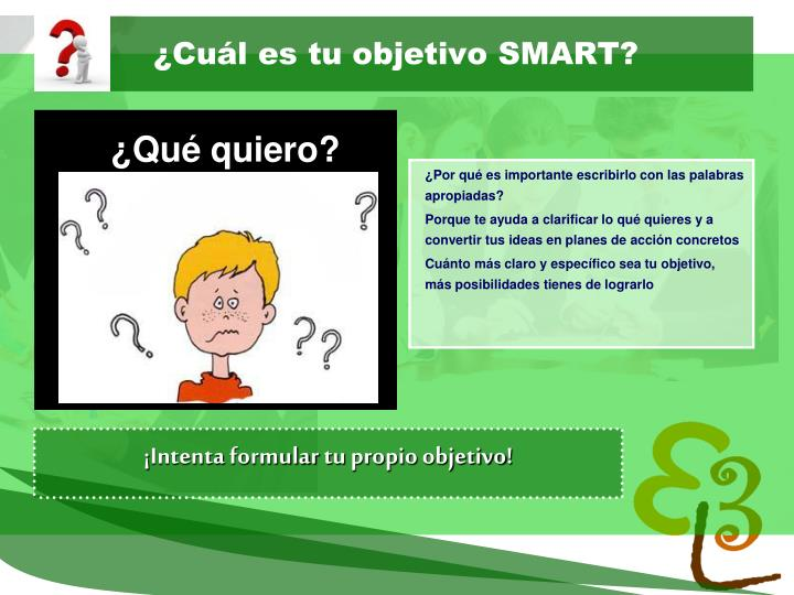 ¿Cuál es tu objetivo SMART?