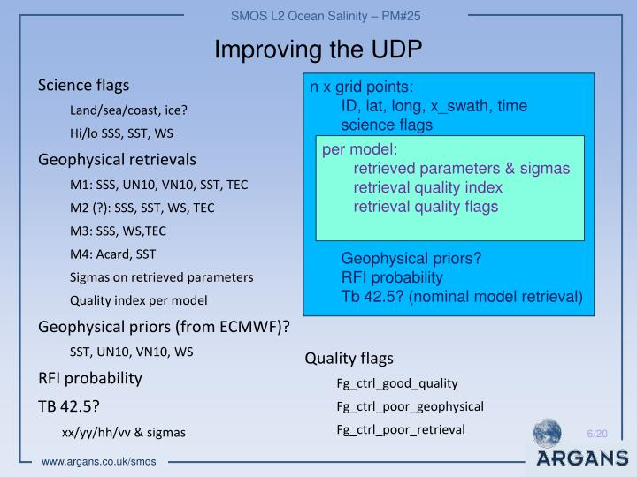 Improving the UDP