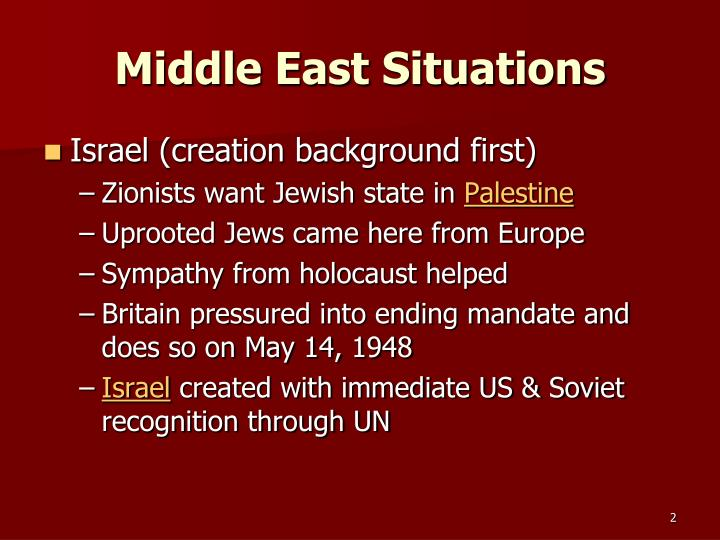 Middle east situations