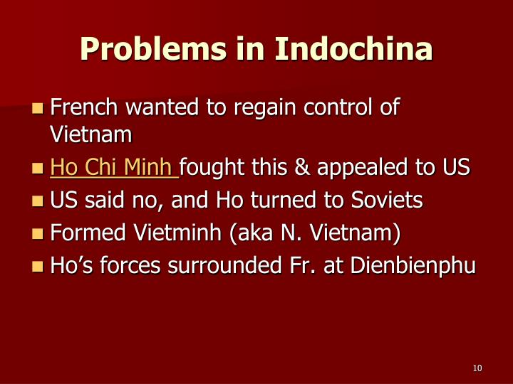 Problems in Indochina