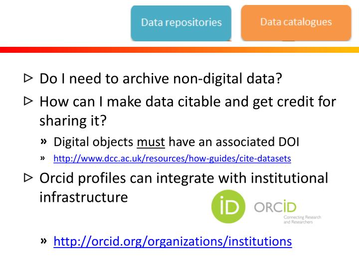 Do I need to archive non-digital data