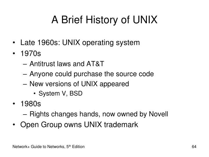 A Brief History of UNIX