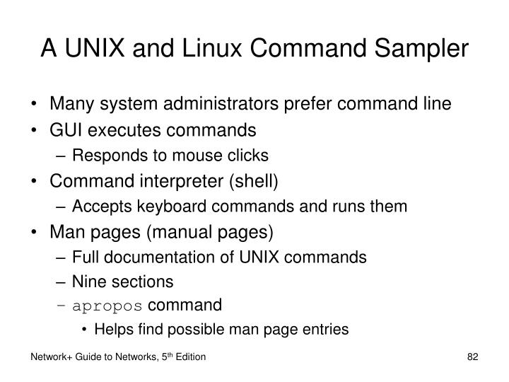 A UNIX and Linux Command Sampler