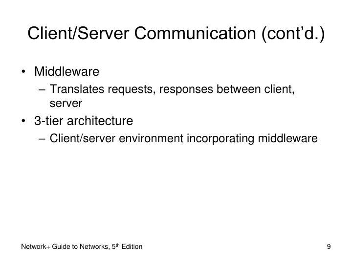 Client/Server Communication (cont'd.)