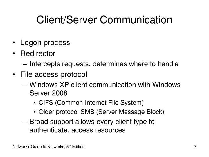 Client/Server Communication