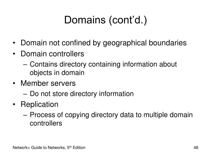 Domains (cont'd.)