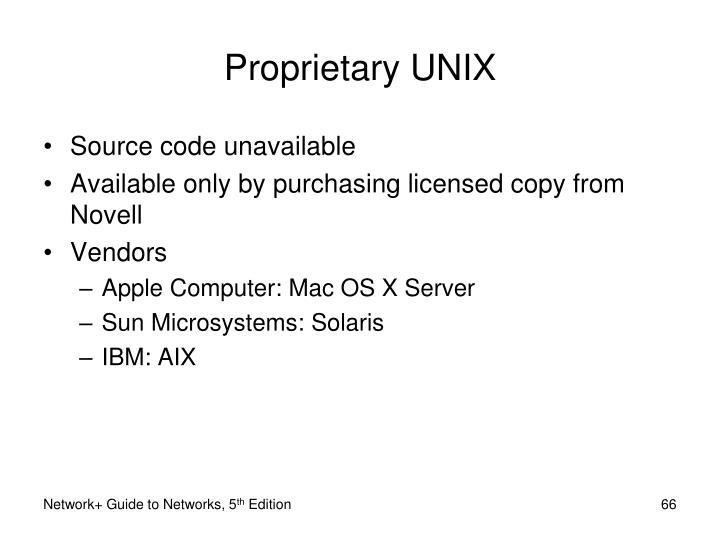 Proprietary UNIX