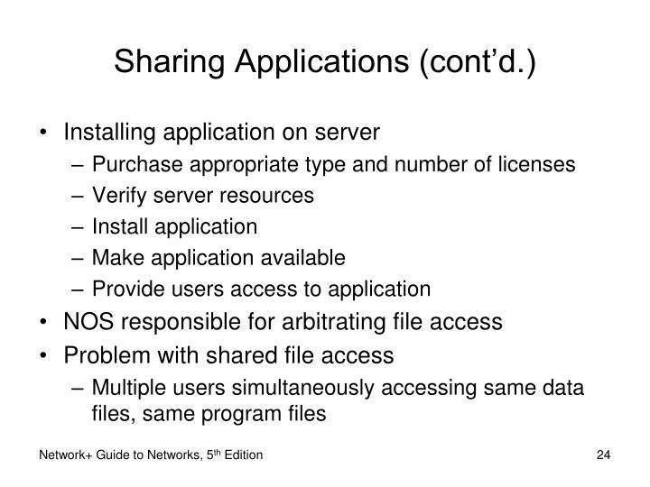 Sharing Applications (cont'd.)