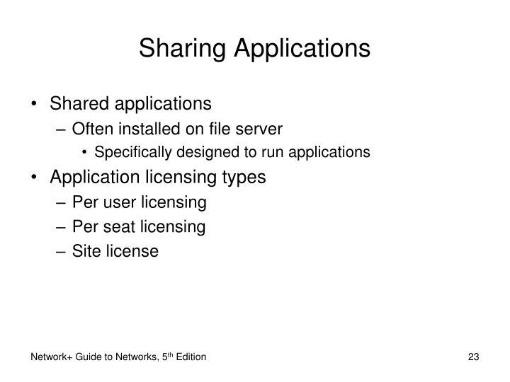 Sharing Applications