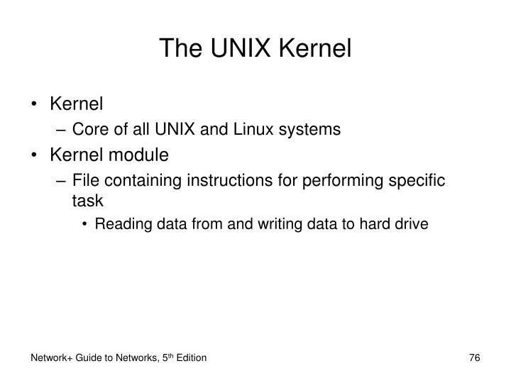 The UNIX Kernel