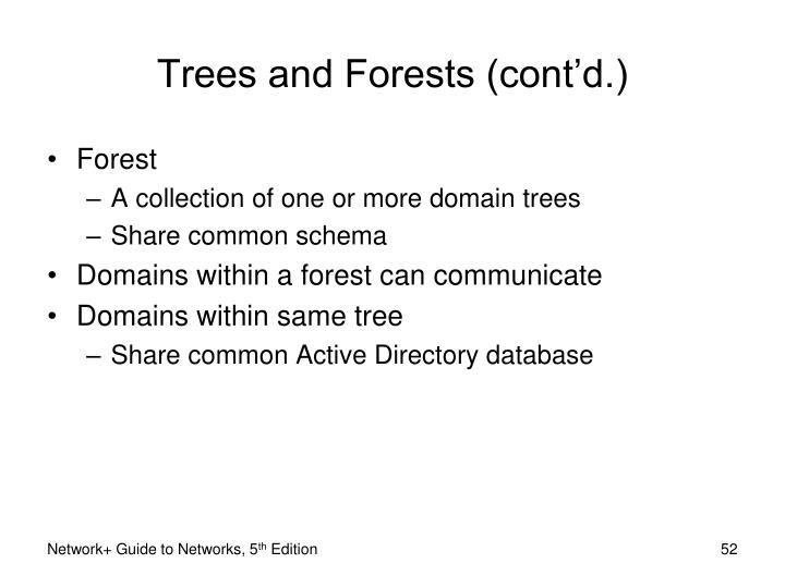 Trees and Forests (cont'd.)