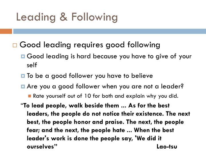 Leading & Following