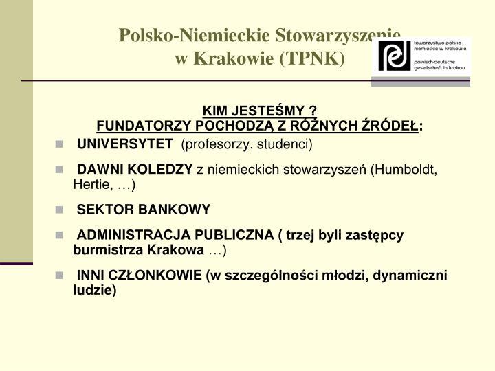 Polsko niemieckie stowarzyszenie w krakowie tpnk