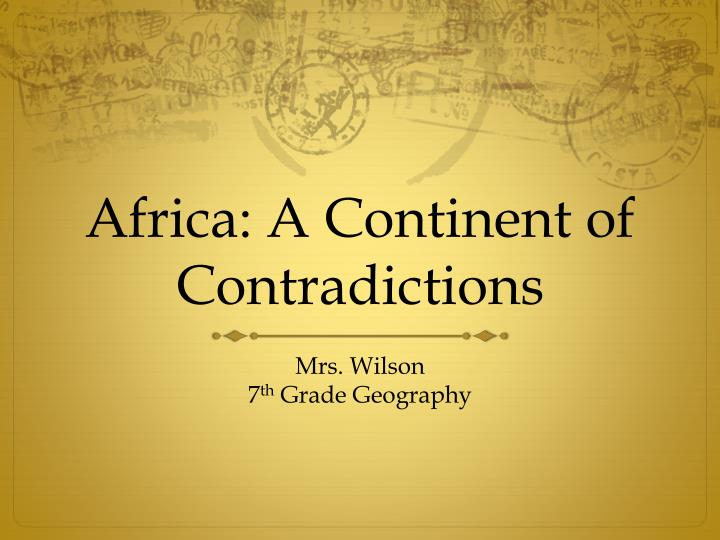 africa a continent of contradictions n.