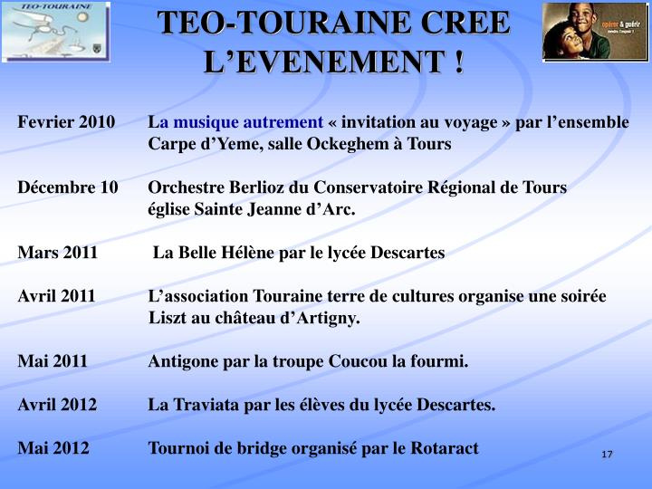TEO-TOURAINE CREE