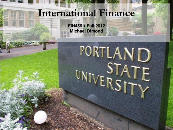 international finance n.