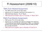fi assessment 2009 10