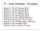 fi class schedule thursdays