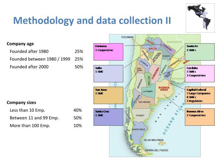 Methodology and data collection II