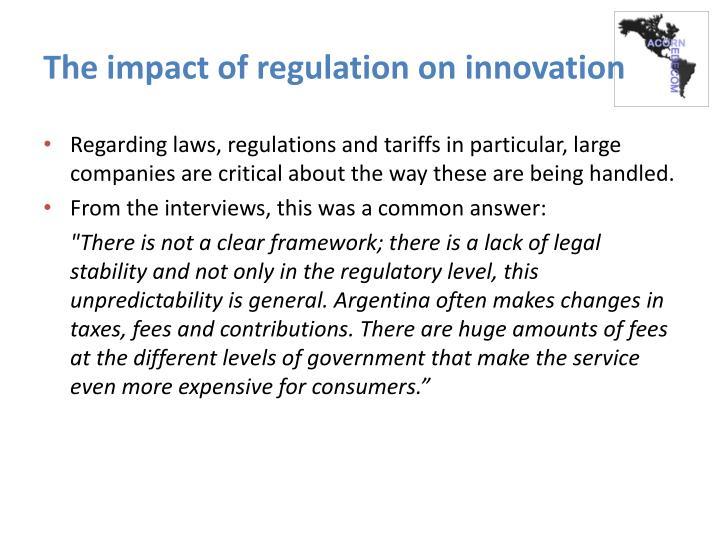 The impact of regulation on innovation
