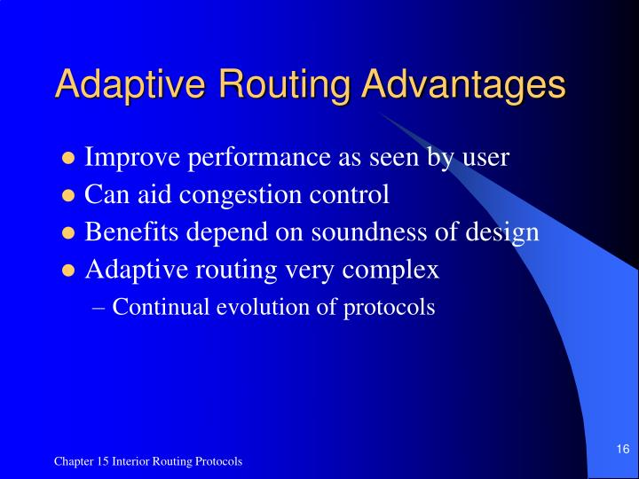 Adaptive Routing Advantages