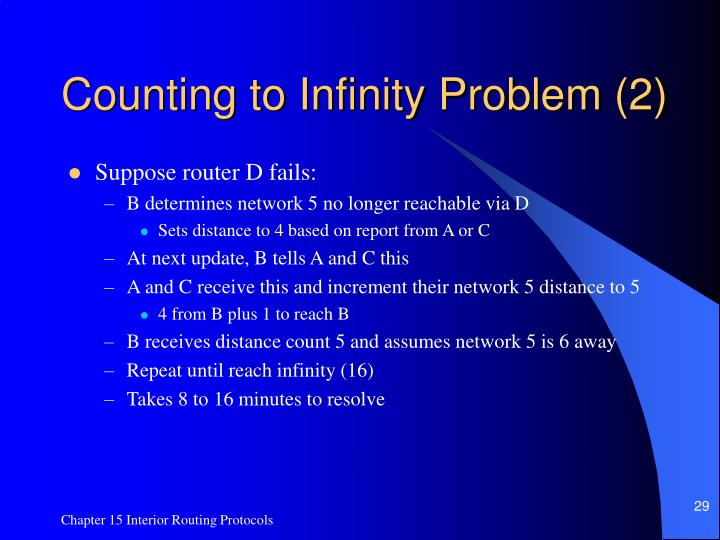 Counting to Infinity Problem (2)