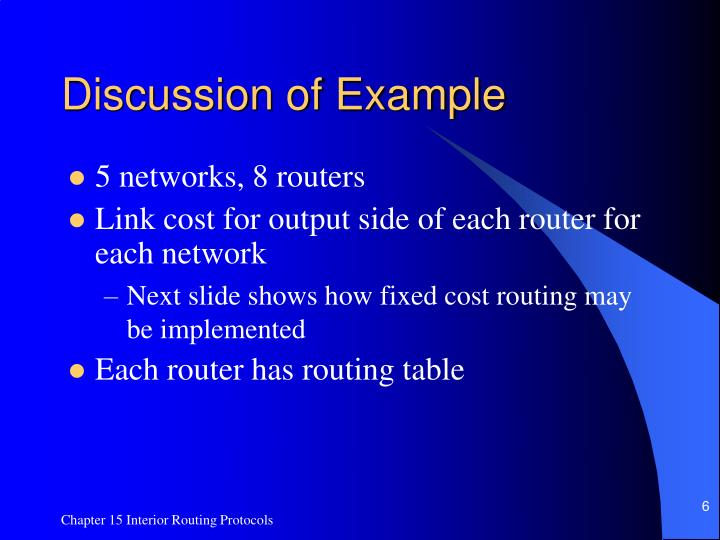 Discussion of Example