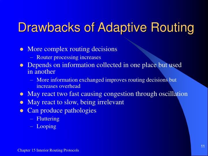 Drawbacks of Adaptive Routing