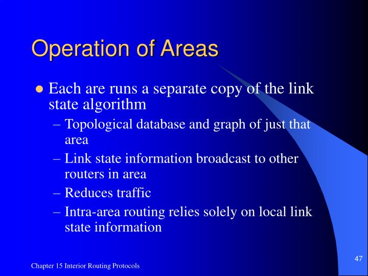 Operation of Areas