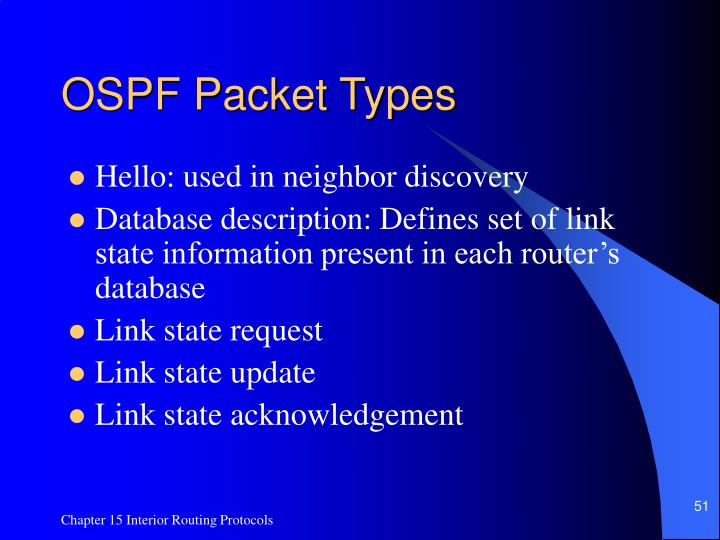 OSPF Packet Types
