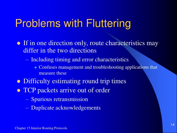 Problems with Fluttering