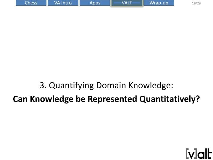 3. Quantifying Domain Knowledge: