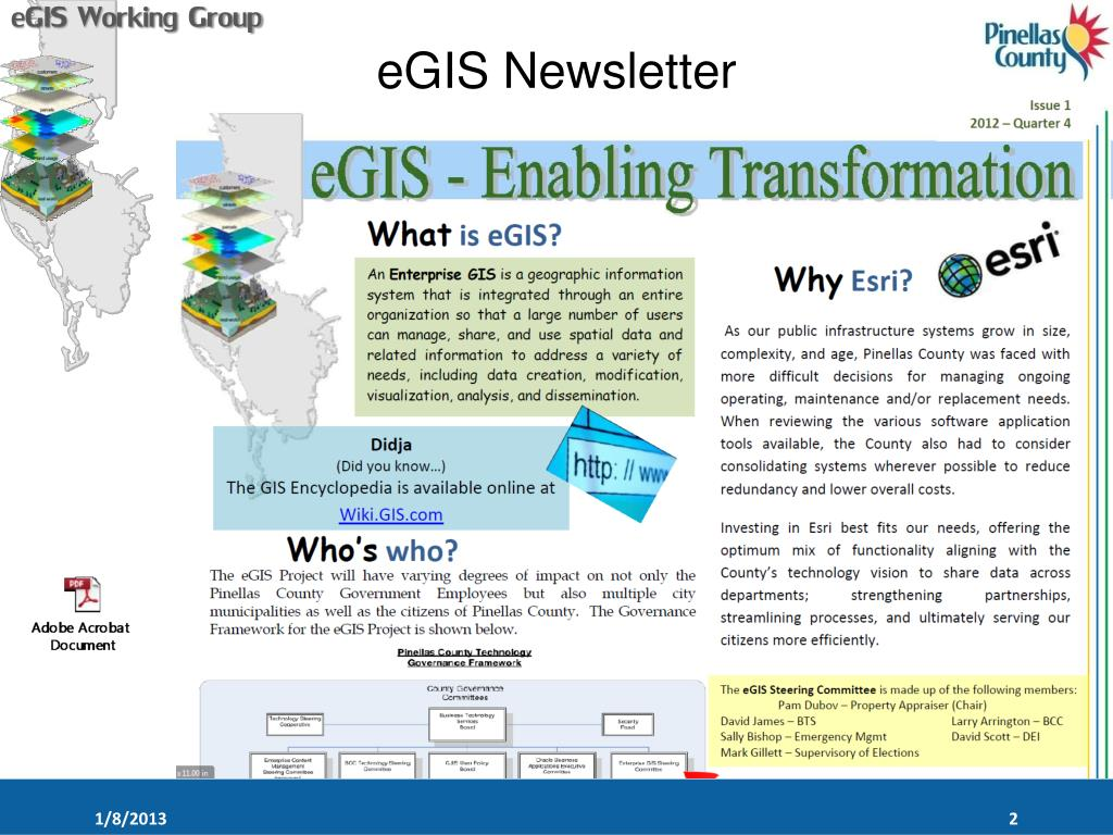 PPT - PRESENTATION FOR E GIS WORKING GROUP PowerPoint