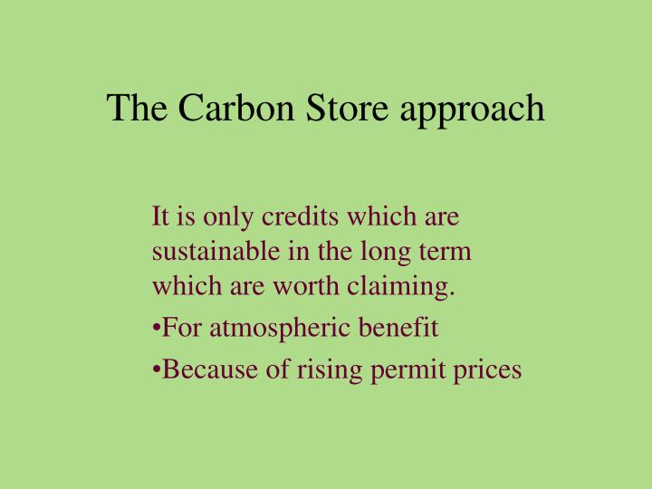 The Carbon Store approach