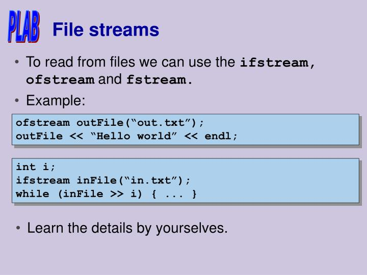 File streams