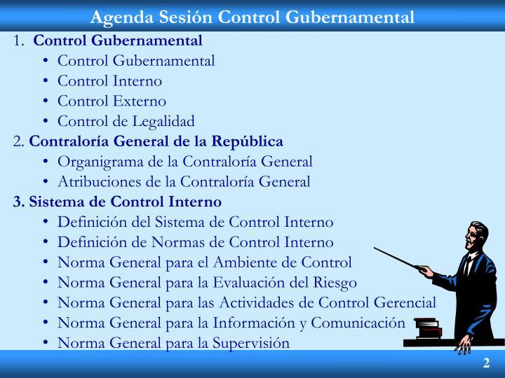 Agenda sesi n control gubernamental