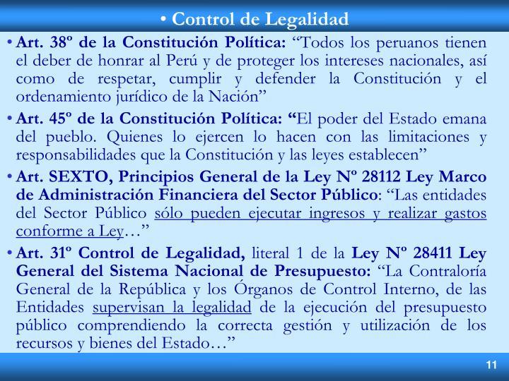 Art. 38º de la Constitución Política: