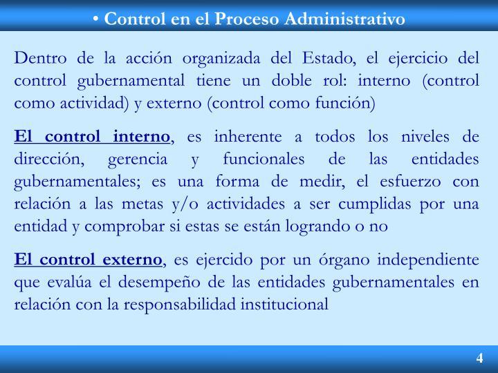 Control en el Proceso Administrativo