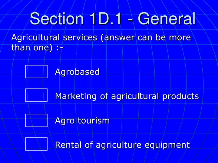 Section 1d 1 general