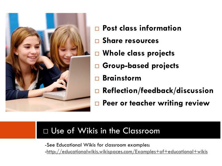 Post class information