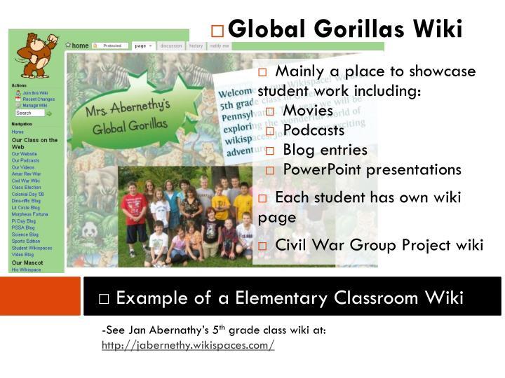 Global Gorillas Wiki