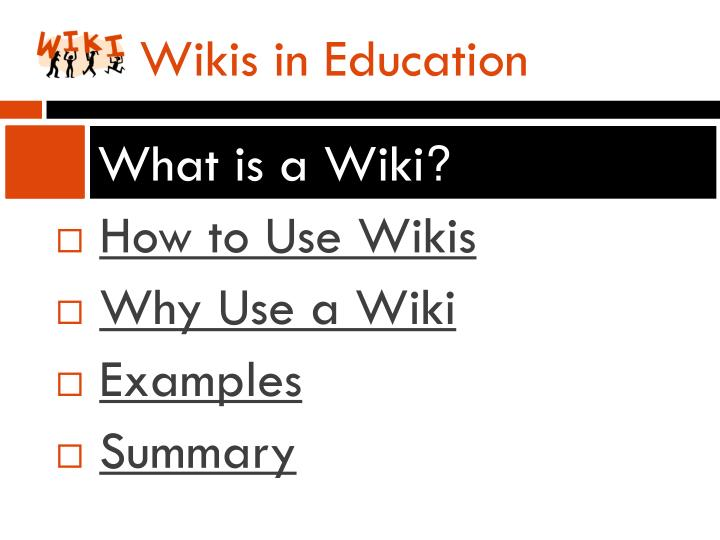 Wikis in education1