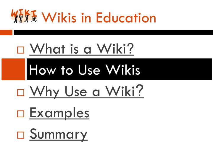 Wikis in Education