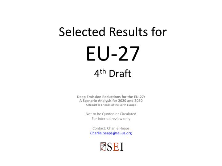 selected results for eu 27 4 th draft n.
