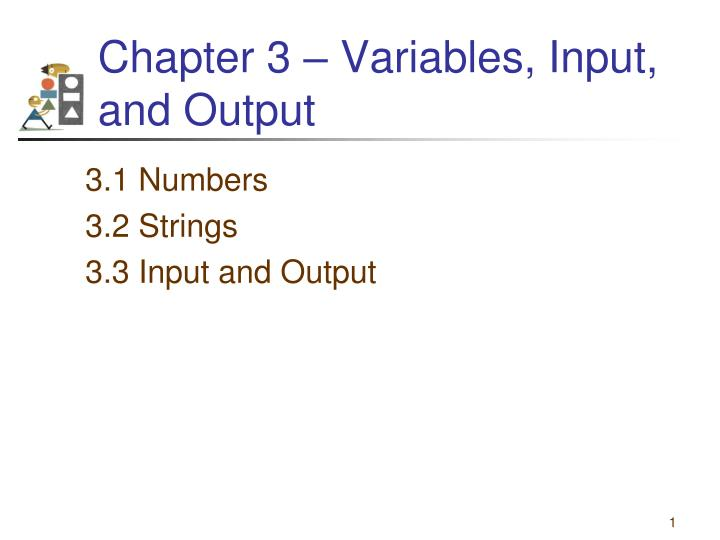 chapter 3 variables input and output n.