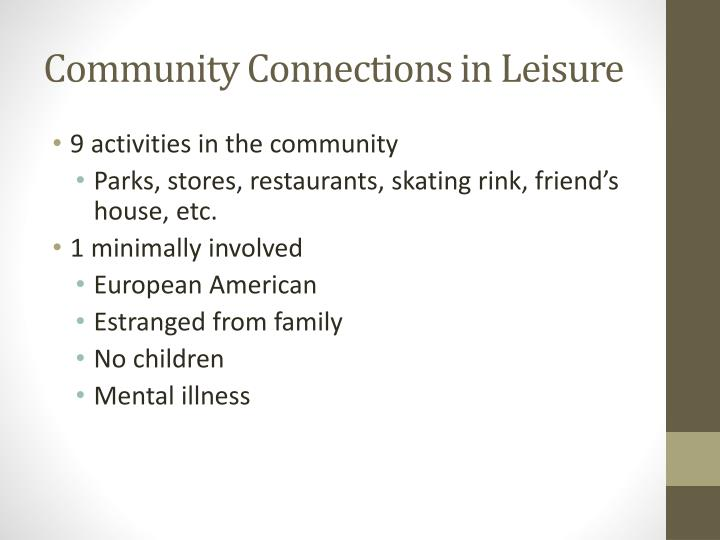 Community Connections in Leisure