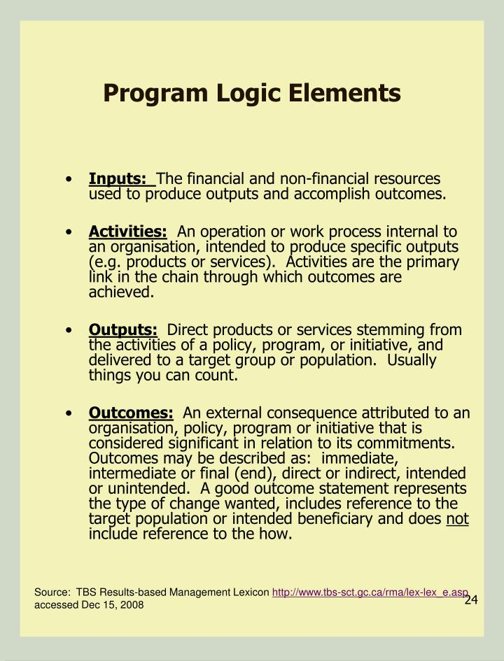 Program Logic Elements
