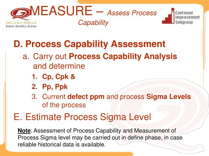 process capability study template - ppt lean six sigma project presentation template