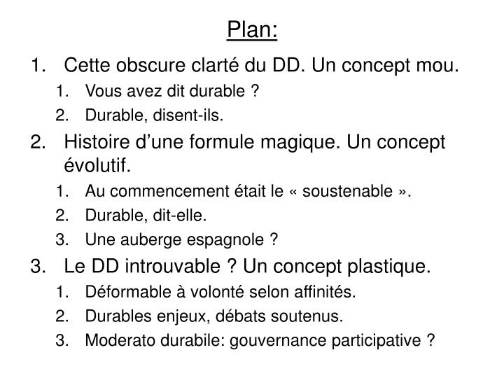 Plan: